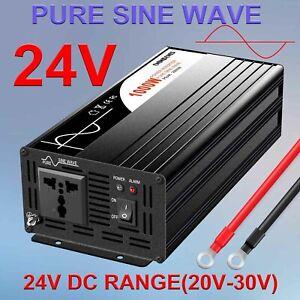 power inverter dc 24 v to 120 v ac 1000watt (peak 2000w) pure sine wave US Plug