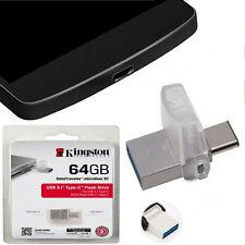Kingston DTDUO3C 64GB Data OTG Type C-Usb-Stecker Traveler Micro Duo USB U3.1