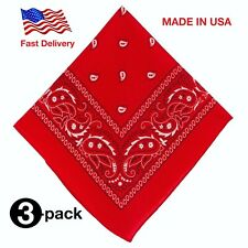 Bandanas 3 pack ( Red Color )