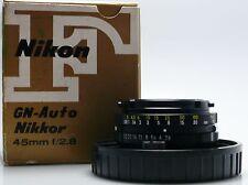 Nikon F NIKKOR 45mm f2.8 Lens GN-Auto
