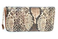 PORTAFOGLIO donna BORSELLO pochette MARRONE borsellino pelle rettile clutch 1265