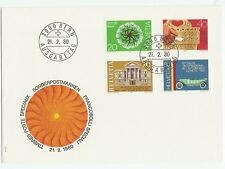 Switzerland 1980 FDC Car, Architecture, Tree, Wood Carving  j8548