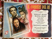 FOTOBUSTA COMPLETA 16 pz. IL CORRIERE DEL RE 1947 1 EDIZIONE ORIGINALE RIGHELLI