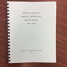 Swain County Marriages 1927- 1950