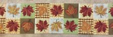 """AUTUMN LEAVES tapestry style Table Runner 13"""" x 68"""""""