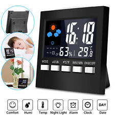Digital|LCD|LED Time Projector Colorful Snooze Alarm Clock Weather Temperature