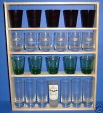 SHOT GLASS 22 Shot Glass Display Case / Rack -Shelf -Item # 140a