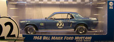 BILL MAIER BLUE 1968 FORD MUSTANG GREENLIGHT 1:18 SCALE DIECAST METAL MODEL CAR