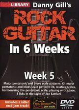Lick Library Danny branquias Rock Guitarra En 6 Semanas aprender a jugar Joe Satriani Dvd 5
