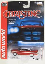 AUTO WORLD SILVER SCREEN MACHINE CHRISTINE 1958 PLYMOUTH FURY MOVIE CAR