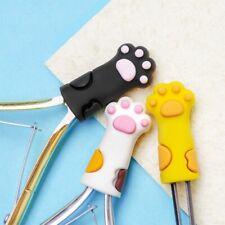2Pcs Nail Art Cuticle Nipper Cover Protective Cat Paw Scissors Tools Cap Kit