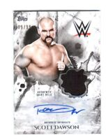 WWE Scott Dawson 2018 Topps Undisputed Autograph Relic Card SN 9 of 99