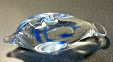Caithness Glass Splish The Blue Dolphin Paperweight Marked 14.5 x 5cm