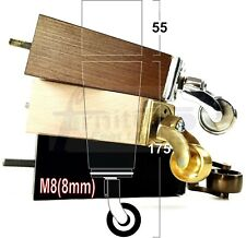 4x WOOD FURNITURE CHAIR LEGS M8(8mm) REPLACEMENT SETTEE CASTOR FEET 175mm HIGH