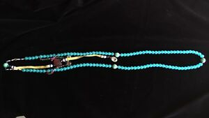 ANTIQUE CHINESE C QING AQUAMARINE and CRYSTAL CHEN XIANG COURT NECKLACE 古董宫廷项链