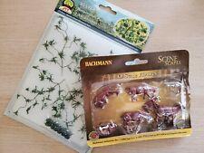 O Scale Bundle - Bachmann Cows Brown & White AND JTT Scenery Watermelon Patch