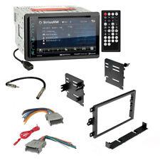 Soundstream Car Radio Bluetooth 2 Din Dash Kit Harness For 92+ Chevy GMC Pontiac