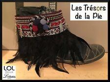 Petit prix: Bijou de botte LOL BIJOUX Pompons & plumes - LOLILOTA