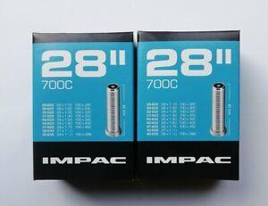 2 x Schwalbe Impac 700 x 28-45c Road Hybrid Bike Inner Tubes Schrader Valve