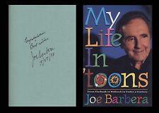 JOSEPH JOE BARBERA Signed Autographed My Life in 'Toons Book Hanna Barbera