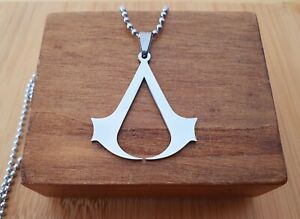 Assassins Creed Stainless Steel  Cosplay Pendant Necklace