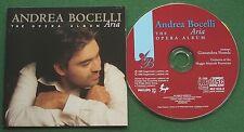 Andrea Bocelli Aria The Opera Album inc Che Gelida Manina & Amor Ti Vieta + CD