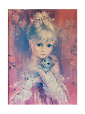 MOJER INNOCENCE GIRL KITSCH VINTAGE RETRO TRETCHIKOFF ERA CANVAS PRINT 18X24