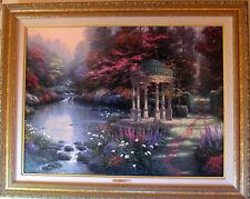 "Thomas Kinkade Artist Proof Garden of Prayer on Canvas  25.5""x34! #400/990! RARE"