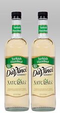 DaVinci TURKISH HAZELNUT NATURALS Syrup (2 EACH) 700ml bottles GLASS Bottles
