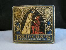 ARTS & CRAFTS ANTIQUE ENAMEL CIGARETTE TIN PRINCESAS HUNGARY WWI BOX MARRIAGE