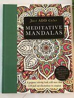 """Barron's """"Meditative Mandalas"""" Adult Coloring Book"""