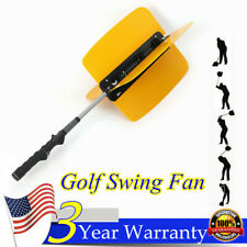 Golf Swing Power Fan Resistance Practice Training Trainer Aids 4 Blades Yellow