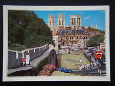 YORK MINSTER FROM THE CITY WALLS POSTCARD