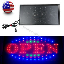 3 Color High Visible Led Light Flash Motion Business Shop Open Sign for Night Us