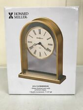New Howard Miller Reminisce Table Shelf Clock 613-118 Brass Arch 7.25� Mantle