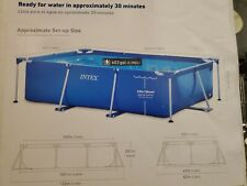New listing Intex 8.5ft x 26in Rectangular Frame Swimming Pool leader in above ground pools