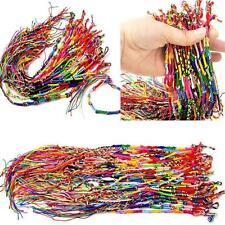 Women Infinity Boho Wind Multi-color Braid Strands Cords Bracelet Cuff DIY Gifts