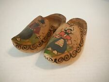 """Vintage 7"""" Wooden Shoes Made in Holland"""