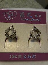 Hoop Earrings. New Crystal circle small Hinged