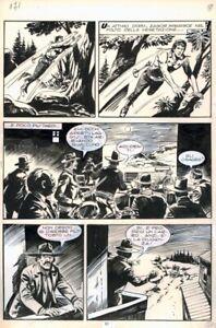 FRANCO DONATELLI - ZAGOR N 119 - LA RABBIA DEGLI OSAGES -TAVOLA ORIGINALE PAG 51