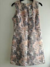 New NEXT Jacquard Metallic Dress Size 10 Petite Prom Party Evening Occasion Out