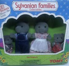 1985 NIB Vintage Tony Calico Critters Sylvanian Families Evergreen Bears Family