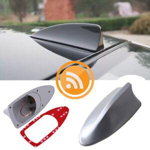 1* GRAY Shark Fin Car Roof Antenna Radio FM/AM Signal Aerial Accessories AI