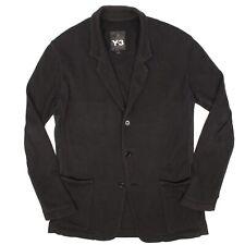 Adidas x Y-3 Yohji Yamamoto Mens Cardigan Sweater Blazer M Solid Black Japan