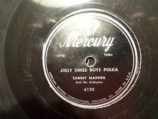 MERCURY 78 RECORD/SAMMY MADDEN/WALTZ BOHEMIA/JOLLY SWISS BOYS POLKA/ VG