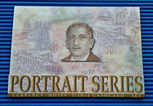 001151 Singapore Portrait Series $2, $5, $10, $50, $100, $1000 & $10000 Cashcard