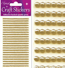 240 Gold Pearls 4mm Craft Sticker Adhesive Backed