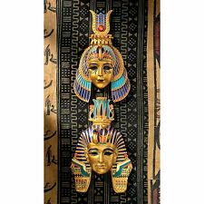 Set of 2 Egyptian Artifact Replica Royal Wall Mask Sculpture NEW
