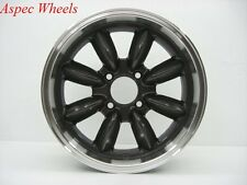 15X7 ROTA RB WHEELS 4X114.3 GUN METAL RIMS ET4MM FITS DATSUN 240Z 260Z 280Z