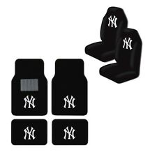 New MLB New York Yankees Car Truck Seat Covers & Front Back Carpet Floor Mats